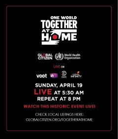 VOOT, Comedy Central, Colors Infinity and Vh1 India to air 'One World: Together at Home'
