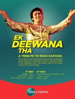 Relive the magic of Hindi Cinema's prince of hearts as Zee Cinema pays a tribute to Rishi Kapoor