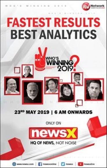 NewsX Will Bring Fastest Election Results on 23rd May, With Who's Winning 2019
