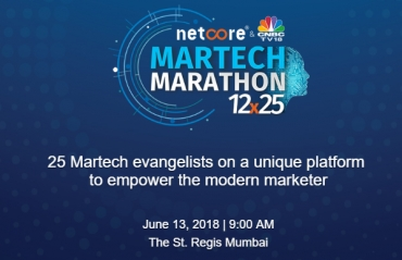 Netcore Solutions and CNBC-TV18 launch 'The Martech Marathon 12 x 25