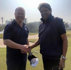Kapil Dev participates at the BBC World News Golf Connect
