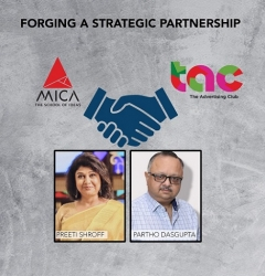 The Advertising Club & MICA – School of Ideas Announcing Strategic Partnership