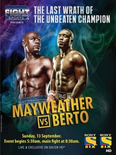 Fight Sports & Sony Six bring Mayweather Jr vs Andre Berto live & exclusive
