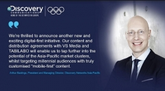 Discovery Announces Two New Digital Partnerships In Asia