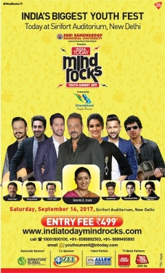 Bollywood star Sanjay Dutt to speak at India Today Mind Rocks 2017