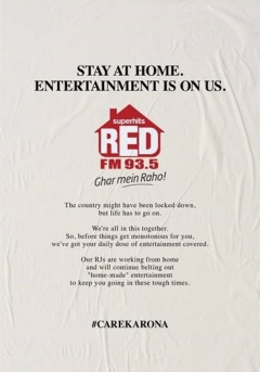 RED FM promises to supply unlimited entertainment while you stay-at-home
