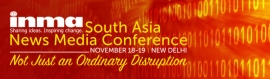 INMA South Asia News Media Conference to be held in Delhi