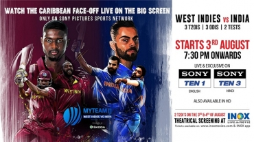 INOX To Screen India –West Indies T20 matches LIVE On Cinema Screens