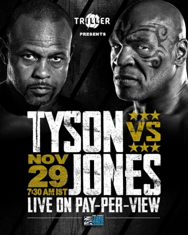 Witness the biggest return in boxing history, Mike Tyson Vs. Roy Jones Jr. with Triller India