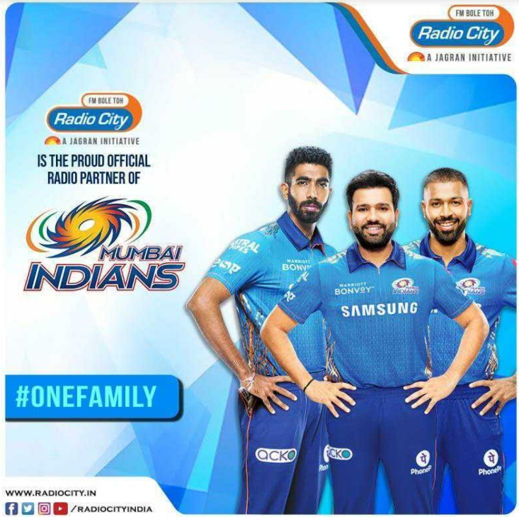 Radio City signed as official partners of Mumbai Indians