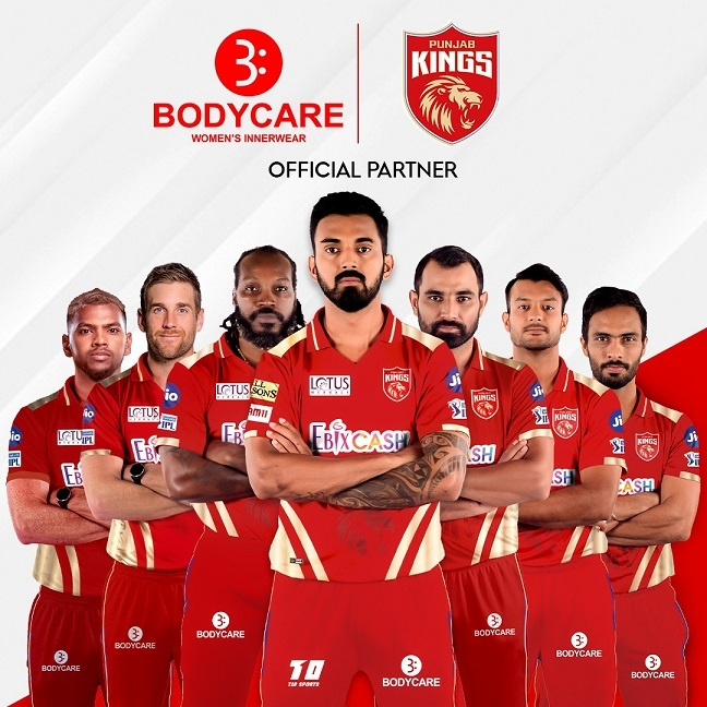 Bodycare Creations signs on as the Official Partners of the Punjab Kings