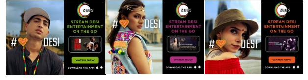 ZEE5 launches its global campaign 'Dil Se Desi'