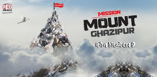 RED FM draws eyeballs with its Mission #HillJaoge at Mount Ghazipur