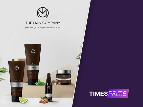 Times Prime partners with premium grooming essentials brand The Man Company