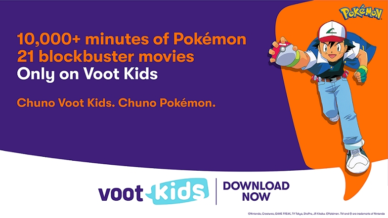 Voot Kids is the new digital home for the anime franchise, Pokémon