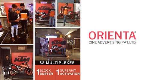 Orienta Cine Advertising executes campaign for Bajaj -KTM bikes