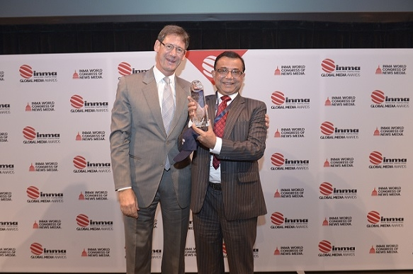 Anandabazar.com bags 1st prize at the prestigious INMA Global Media Awards held in Washington