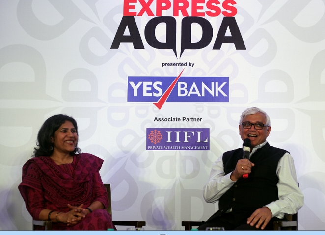 Express Adda with writer Amitav Ghosh