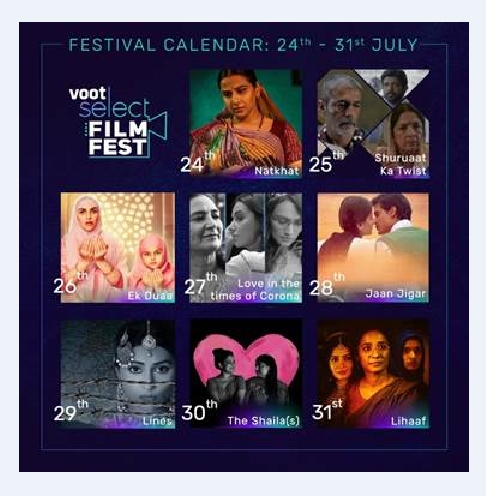 Voot Select brings the largest-ever direct to OTT Film Festival in India