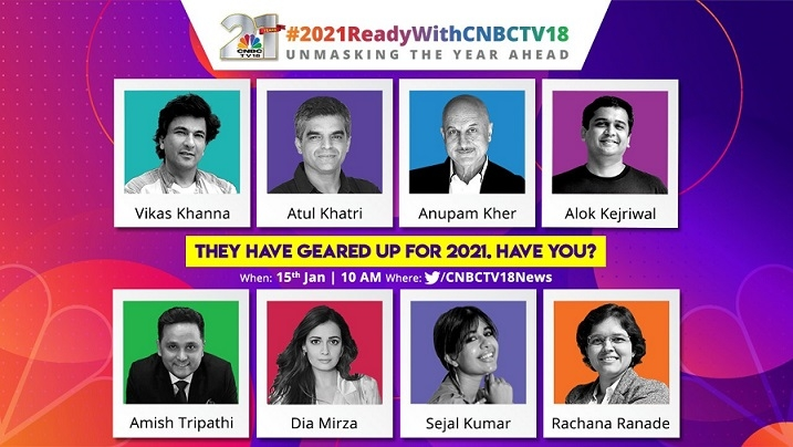 CNBC-TV18 hosts the biggest digital unconference of the year on Twitter with #2021ReadyWithCNBCTV18