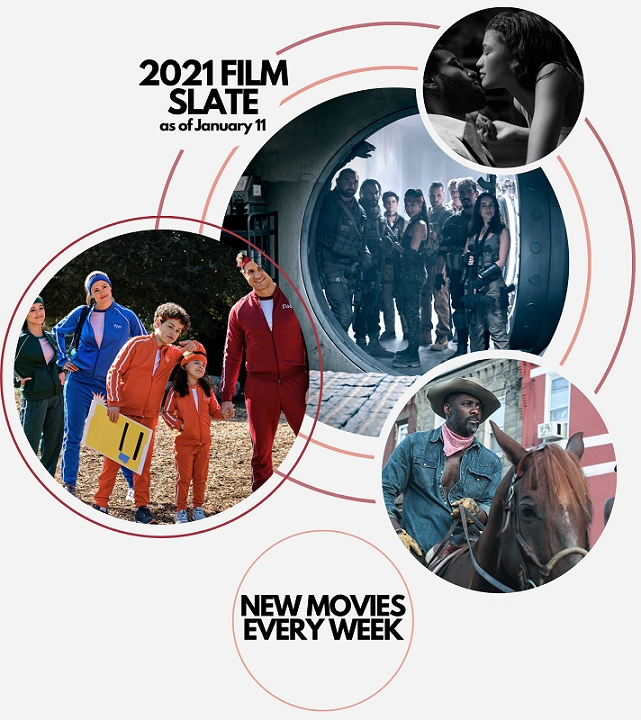 2021: New Movies. Every Week. On Netflix