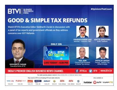 Call BTVI- GST Refund Special