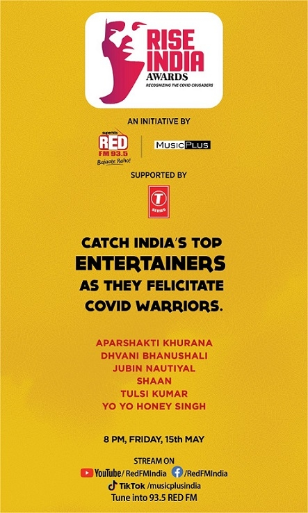RED FM and Music Plus's RISE INDIA Awards salute the COVID crusaders