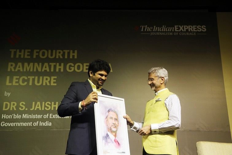 Dr S. Jaishankar delivers the 4th Ramnath Goenka Memorial Lecture in New Delhi