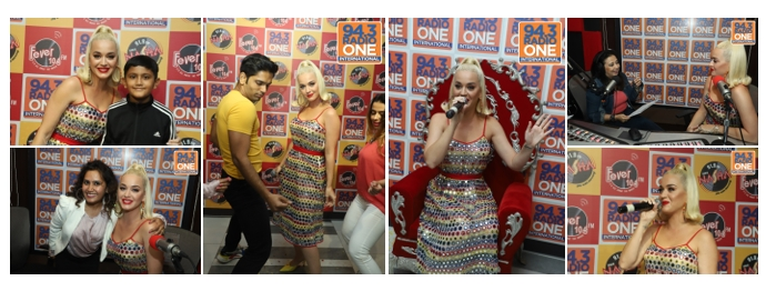 Katy Perry visits Radio One Mumbai