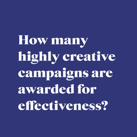 38% of the world's most creative campaigns are also effective