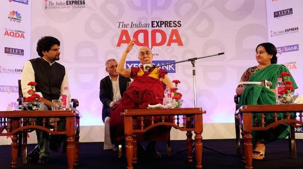 His Holiness the Dalai Lama at Express Adda in New Delhi