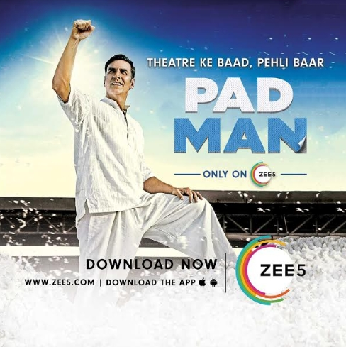 Akshay Kumar's Padman releases exclusively on ZEE5