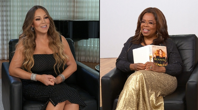 "Oprah Winfrey interviews Mariah Carey on her new memoir, ""The Meaning of Mariah Carey,"""